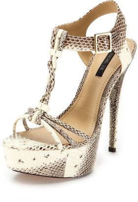 Rachel Zoe Valerie Snakeskin Sandal