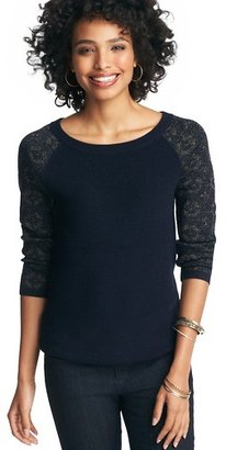 LOFT Foil Jacquard 3/4 Sleeve Sweater