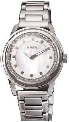 Breil Milano 'Orchestra' Crystal Bezel & Index Bracelet Watch, 40mm