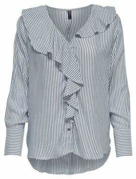 Only Stripe Ruffle Shirt