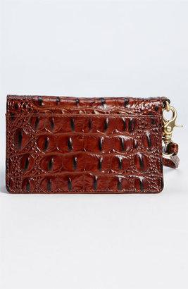 Brahmin Women's 'Debi' Croc Embossed Leather Wristlet - Brown