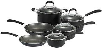 T-Fal Professional Nonstick Cookware Set 10pc, Black