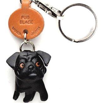 Vanca Craft Pug Keychain Black