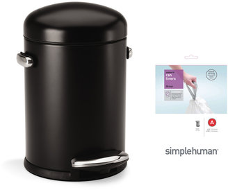Simplehuman Retro 4.5L Can with Bonus 30 Pack of Liners