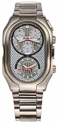 Philip Stein Teslar Men's 13TI-WCG-TSS Prestige Titanium Chronograph Titanium Bracelet Watch