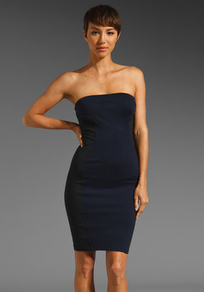 David Lerner Strapless Miracle Dress with Zipper in Navy/Black
