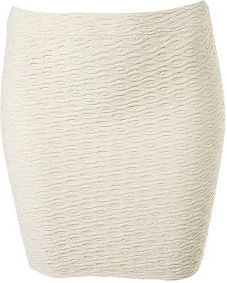 Topshop Wavy Bodycon Skirt