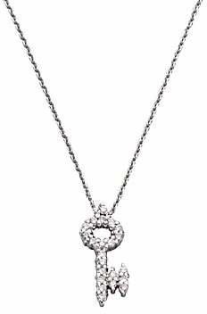 fcac65f921 Roberto Coin Women's Tiny Treasures Diamond & 18K White Gold Key Pendant  Necklace