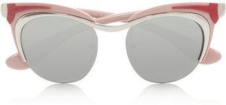Prada Cat eye acetate sunglasses