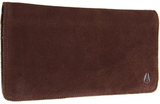 Nixon Sawyer Large Wallet (Brown Suede) - Bags and Luggage