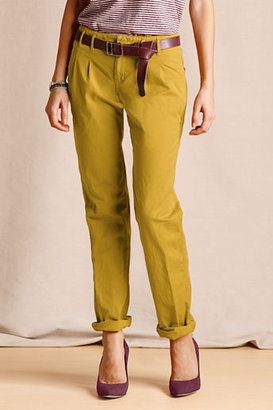 Lands' End Canvas Women's Pleated Slim Slouch Chinos