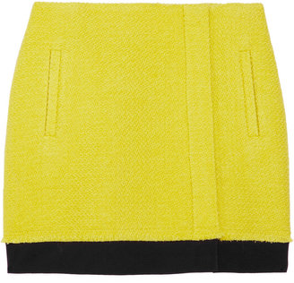 Diane von Furstenberg Kiki bouclé wool-blend wrap mini skirt