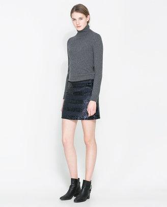 Zara Sequinned Miniskirt