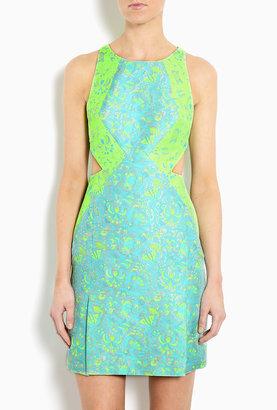 Richard Nicoll Cut Out Silk Jacquard Mini Dress