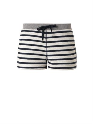Alexander Wang Striped French-terry shorts