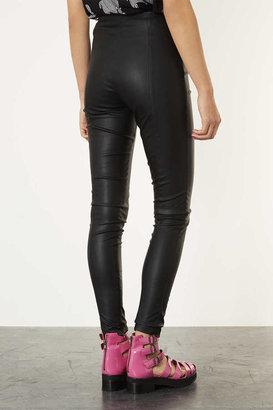 Topshop Leather Look Skinny Treggings