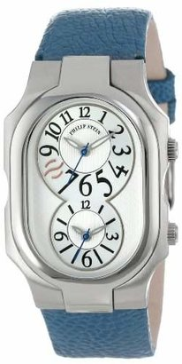 """Philip Stein Teslar Women's 2-SIL-OBL """"Signature"""" Stainless Steel Watch with Leather Band"""