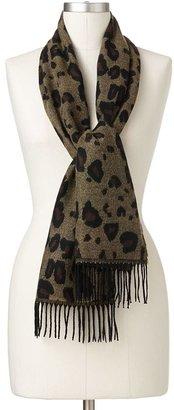 Croft & barrow ® softer than cashmere? leopard muffler scarf