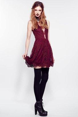 Lulu For Love & Lemons Lace Dress in Wine