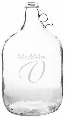 Cathy Monogram Mr. & Mrs. Wedding Wishes in a Bottle Guest Book