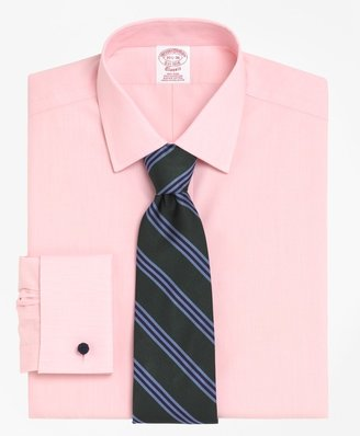 Brooks Brothers Traditional Relaxed-Fit Dress Shirt, Non-Iron Spread Collar French Cuff