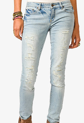 Forever 21 Destroyed Skinny Jeans