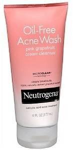 Neutrogena Oil-Free Acne Wash Cream Cleanser, Pink Grapefruit
