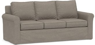 Pottery Barn Cameron Roll Arm Slipcovered Sleeper Sofa with Memory Foam Mattress
