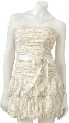 My Michelle lace lurex tube dress - juniors