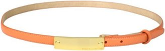 Vince Camuto Women's Skinny Leather Belt With Logo Buckle