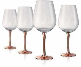 Artland Coppertino Four-Piece Wine Goblet Glass Set