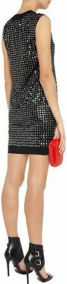 Diane von Furstenberg Felicia embellished silk and cotton-blend dress