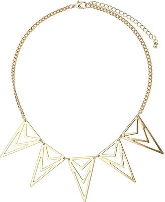 Topshop Freedom at metal. Gold look diamond cut out necklace, neck drop 21cm with an extension chain