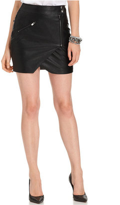 GUESS Skirt, Faux-Leather Motorcycle Mini