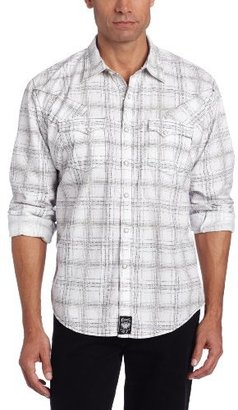 Wrangler Men's Rock 47 Poplin Plaid Western Shirt