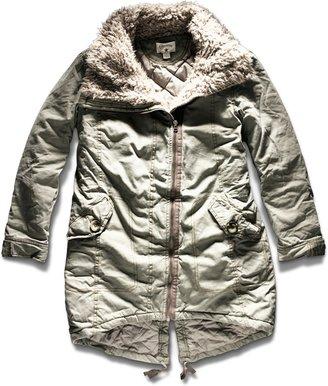 Converse Women's Shawl Fur Collar Jacket
