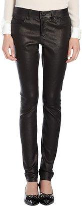 Saint Laurent Leather Jeans-Black