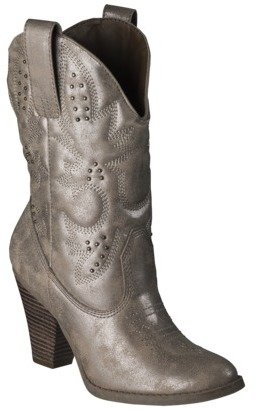 Mossimo Women's Kala Studded Western Boot - Rose Gold