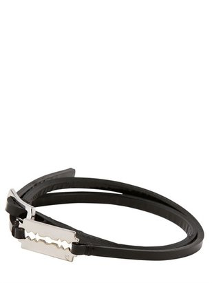 McQ by Alexander McQueen Patent Leather Triple Wrap Bracelet