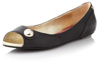 Elaine Turner Designs Robin Peep-toe Flat, Black
