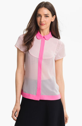 Ted Baker Crepe Top Bright Pink 5