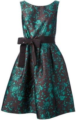 P.A.R.O.S.H. floral brocade sleeveless dress