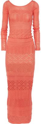 Matthew Williamson Crochet-knit cotton maxi dress