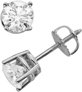 18k White Gold 1 1/2-ct. T.W. Round-Cut Colorless Diamond Solitaire Earrings