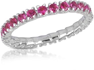Forzieri Pink Sapphires 18K Gold Eternity Band