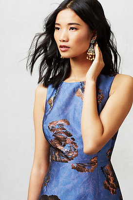 Anthropologie Bronzed Brocade Sheath