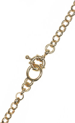 J.Crew Bubble 18-karat gold-plated resin necklace