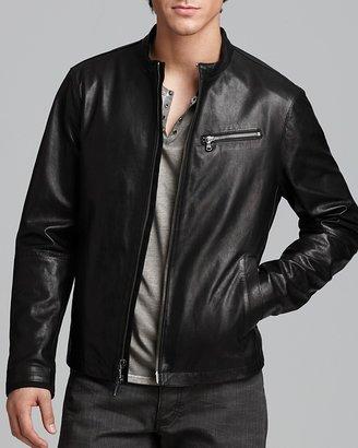 John Varvatos USA Leather Canvas Jacket