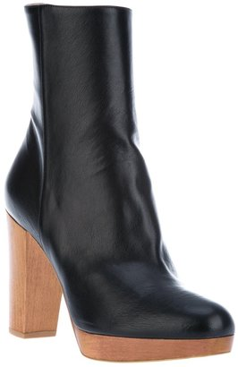 Stella McCartney wooden heel boots