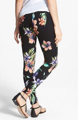 Hue 'Floral Vines' Denim Leggings